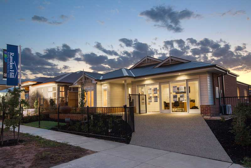 The front of our Shoalhaven home seen at twilight