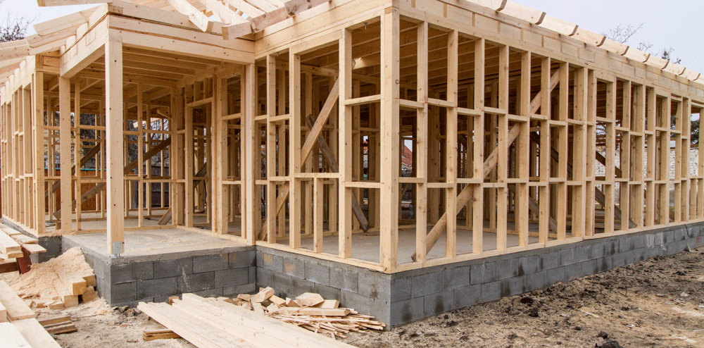 The frame of the house -- your home starts to take shape!